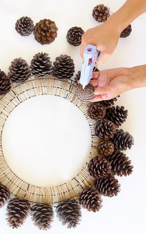 Legend Beautiful Fast & Easy DIY Pinecone Wreath (Upgraded Version)