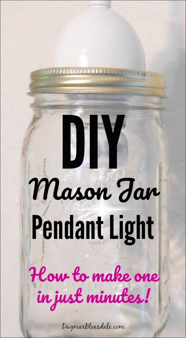 I'll show you how to make a mason jar pendant light in minutes! Tutorial on Dagm...