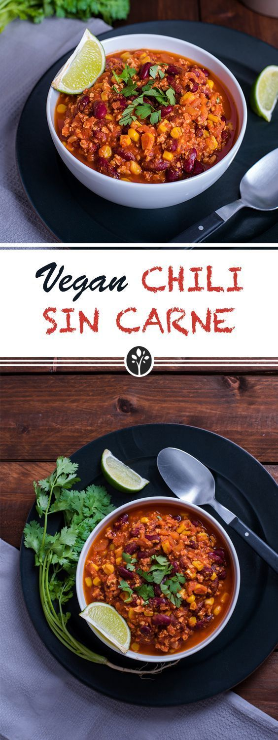 Chili Sin Carne with tofu! Recipe now on www.eat-vegan.de #vegan
