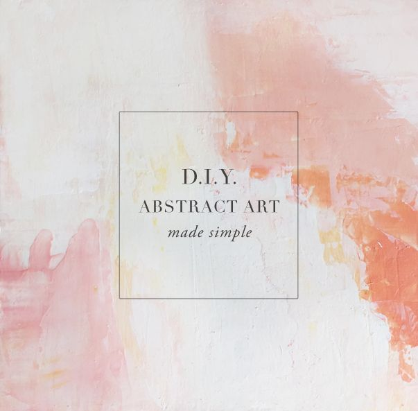 Learn how to create a DIY abstract art with acrylics-made simple. Easy simple to...