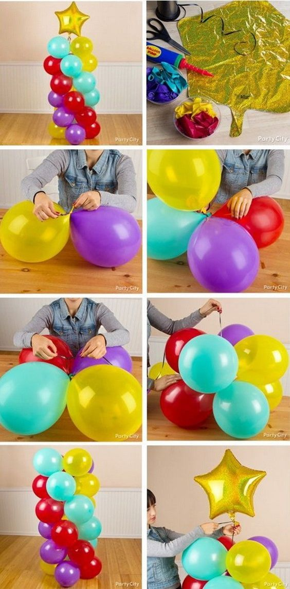 diy-filled balloons Deco ideas perfect party items
