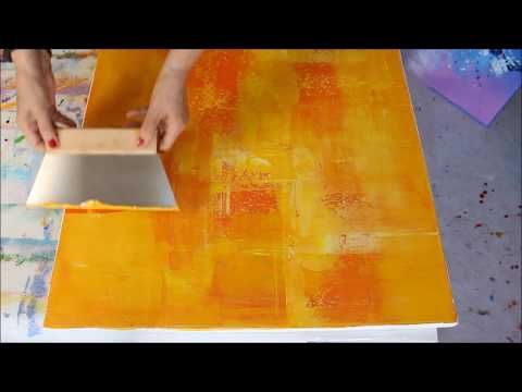 (1) Acrylic painting - Easy painting - Modern, abstract image in spatula technique ...