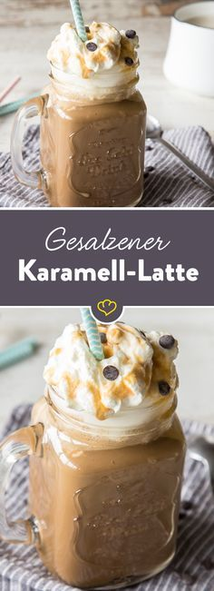 Make yourself comfortable with your salted caramel latte! Prepare coffee, ...