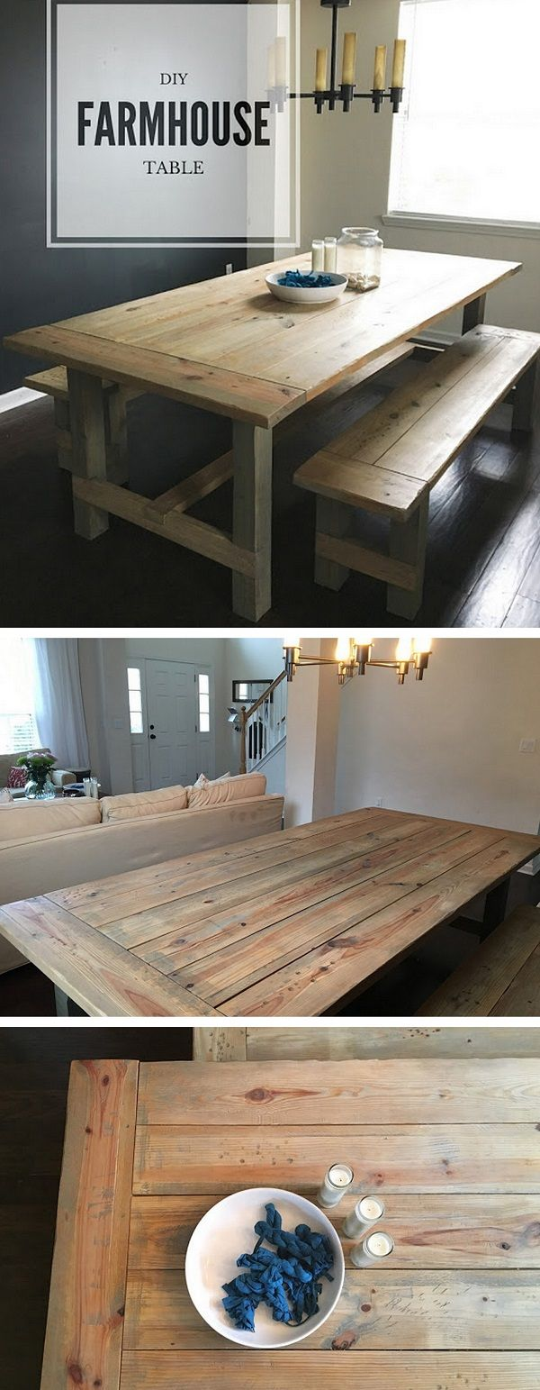 20+ Stunning DIY Farmhouse Tables for Rustic Decor - how to build a #DIY weather...
