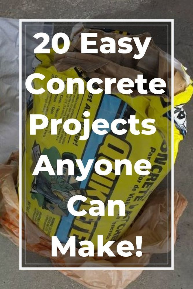 20 Easy Concrete Project That Anyone Can Make- Concrete and cement are great too...