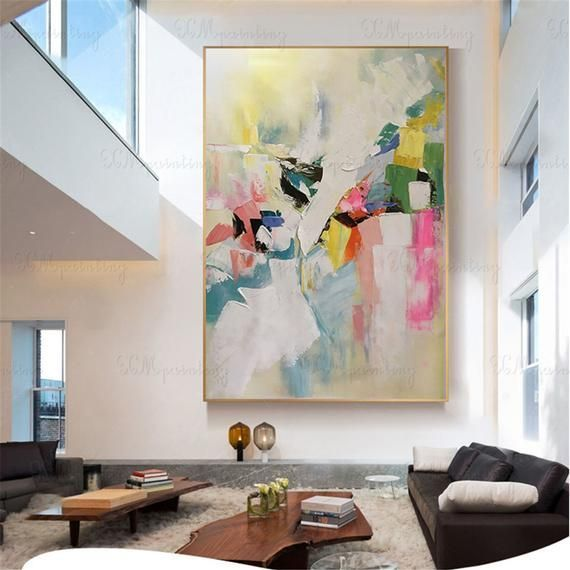Abstract painting on canvas wall art pictures for living room main corridor wall art