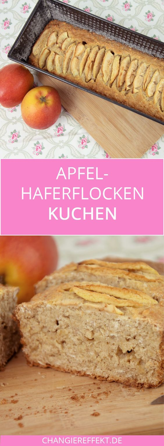 A delicious recipe for an apple oatmeal cake with almost no sugar! Gewis ...