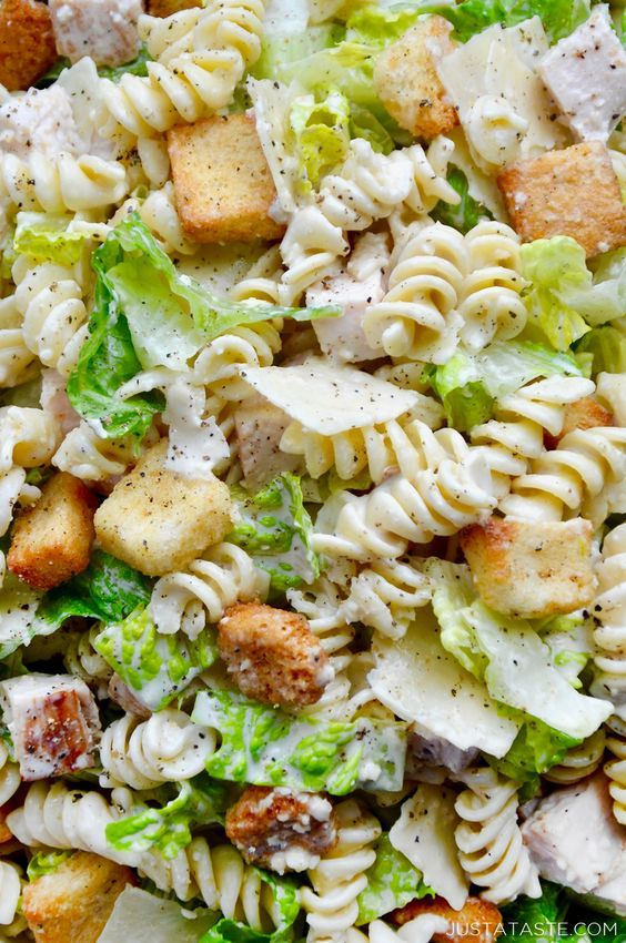 Chicken Caesar Pasta Salad Whip up a 20-minute meal in-a-bowl with a refreshing ...