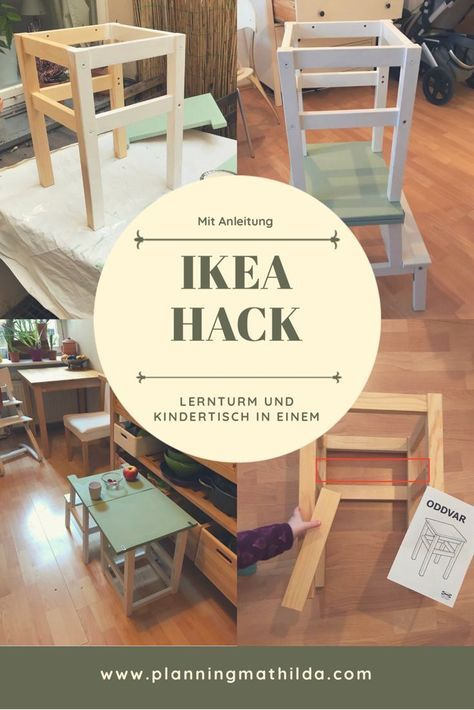 DIY: learning tower and children's table in one   planningmathilda