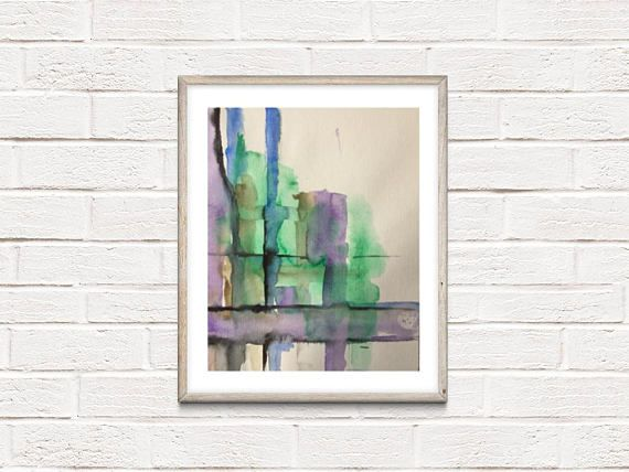 ORIGINAL AQUARELL watercolor painting abstract painting picture art art watercolor ...