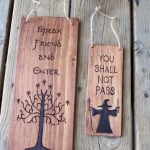 Lord of the Rings - Door Hanger - You Shall Not Pass - Speak Friend - Keep Out -...