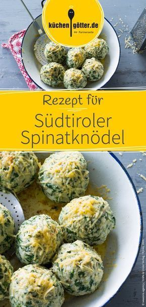Recipe for savory and delicious South Tyrolean spinach dumplings. We wish you a pleasant ...