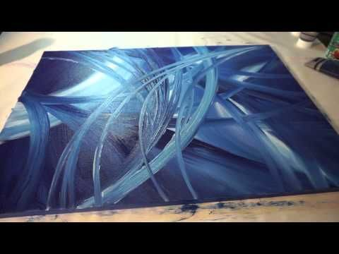 Abstract Painting Full HD Sony Alpha 6000, Abstract Art Painting Demonstration, ...