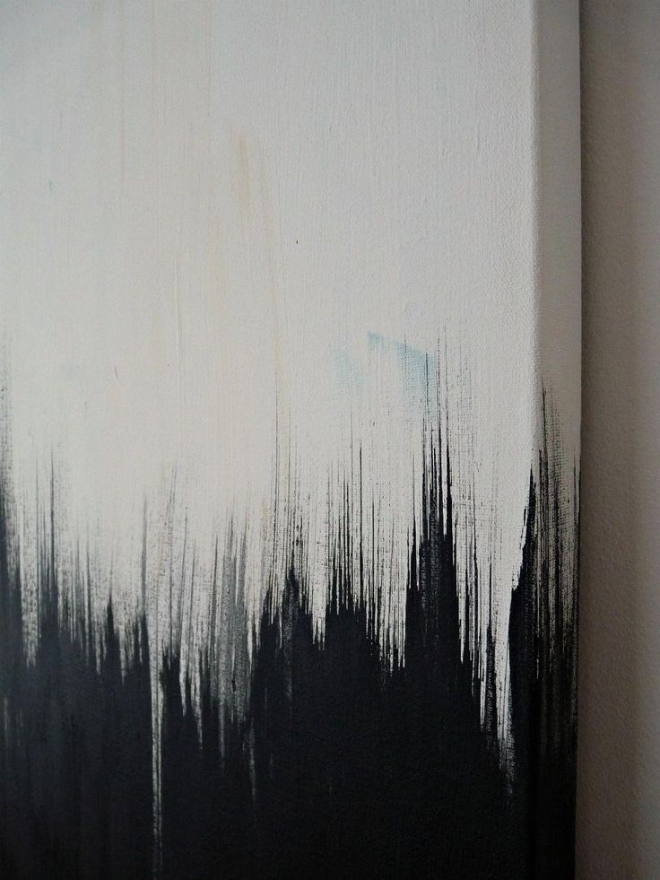 Simple But Striking, Black White DIY Abstract Painting #abstractartpaintingsdiy
