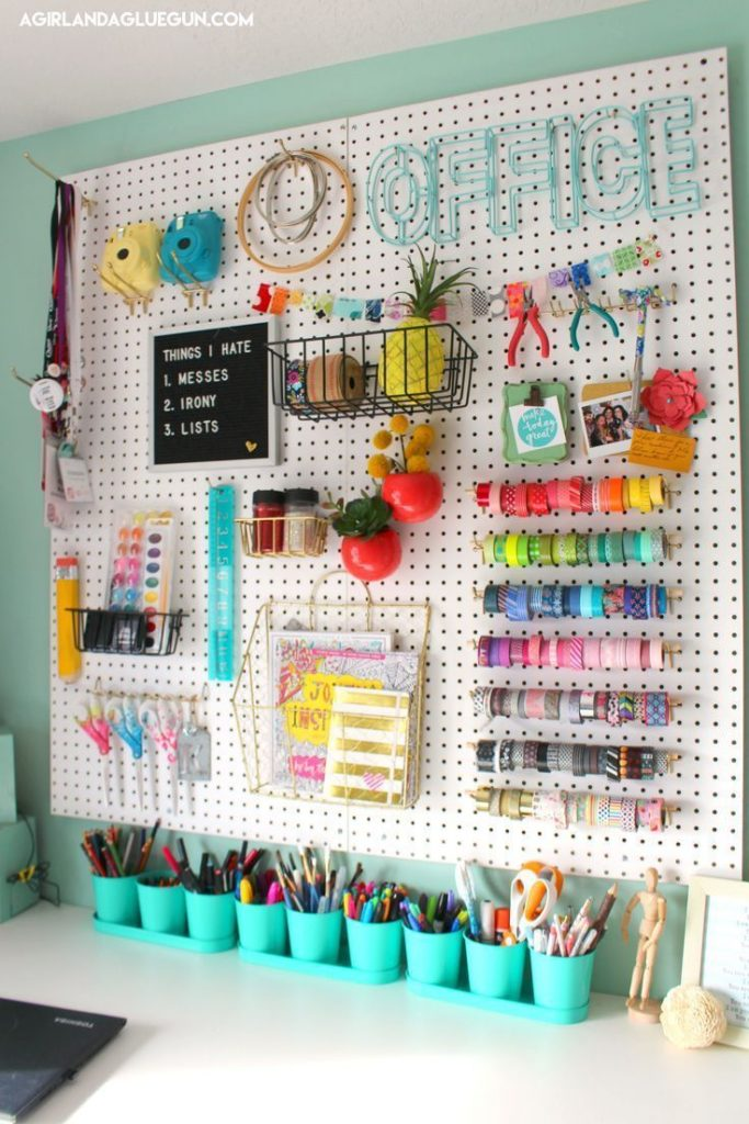 You have seen my Peg Board organization HERE and I have since Pegbo ...