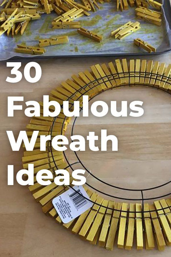 Open your door ever day with a smile with these adorable wreath inspirations! #d...