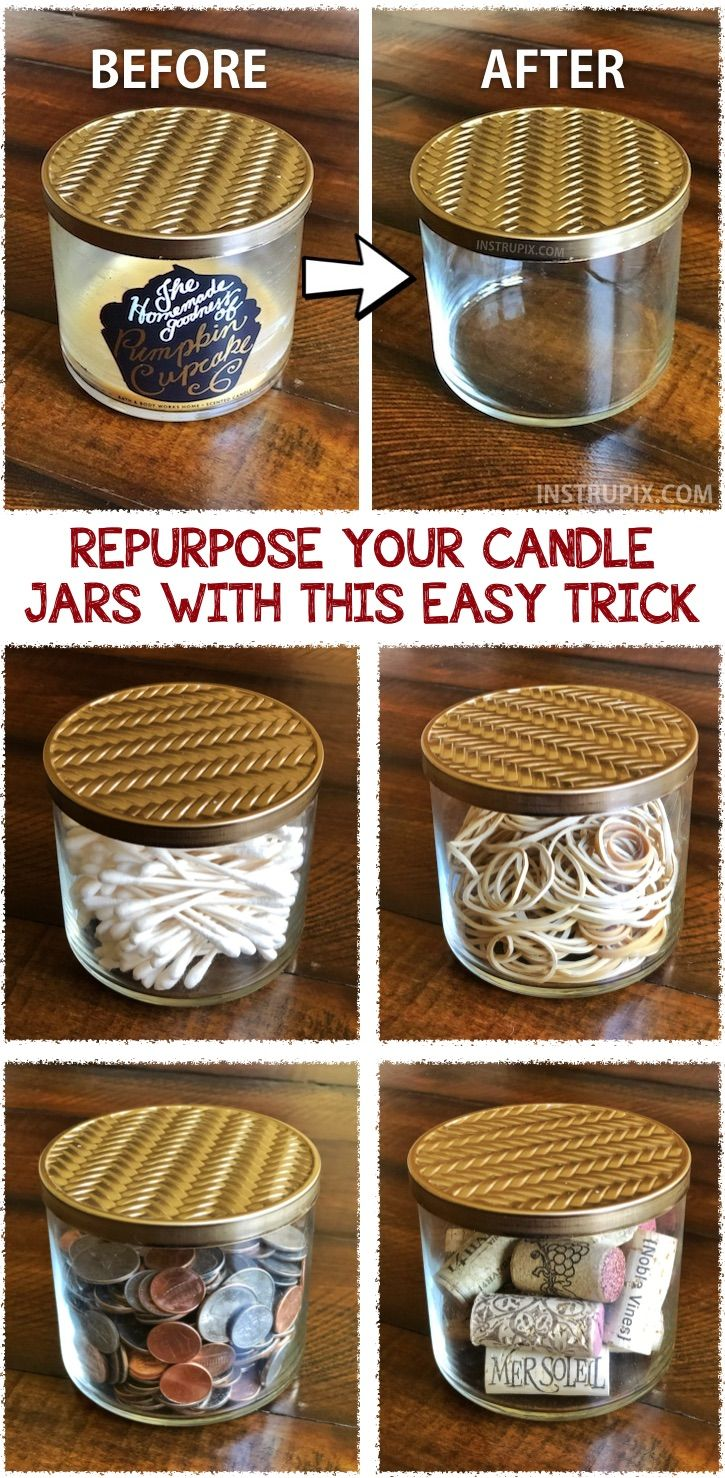 How to get wax out of candle jars the easy way! This easy life hack is the easie...