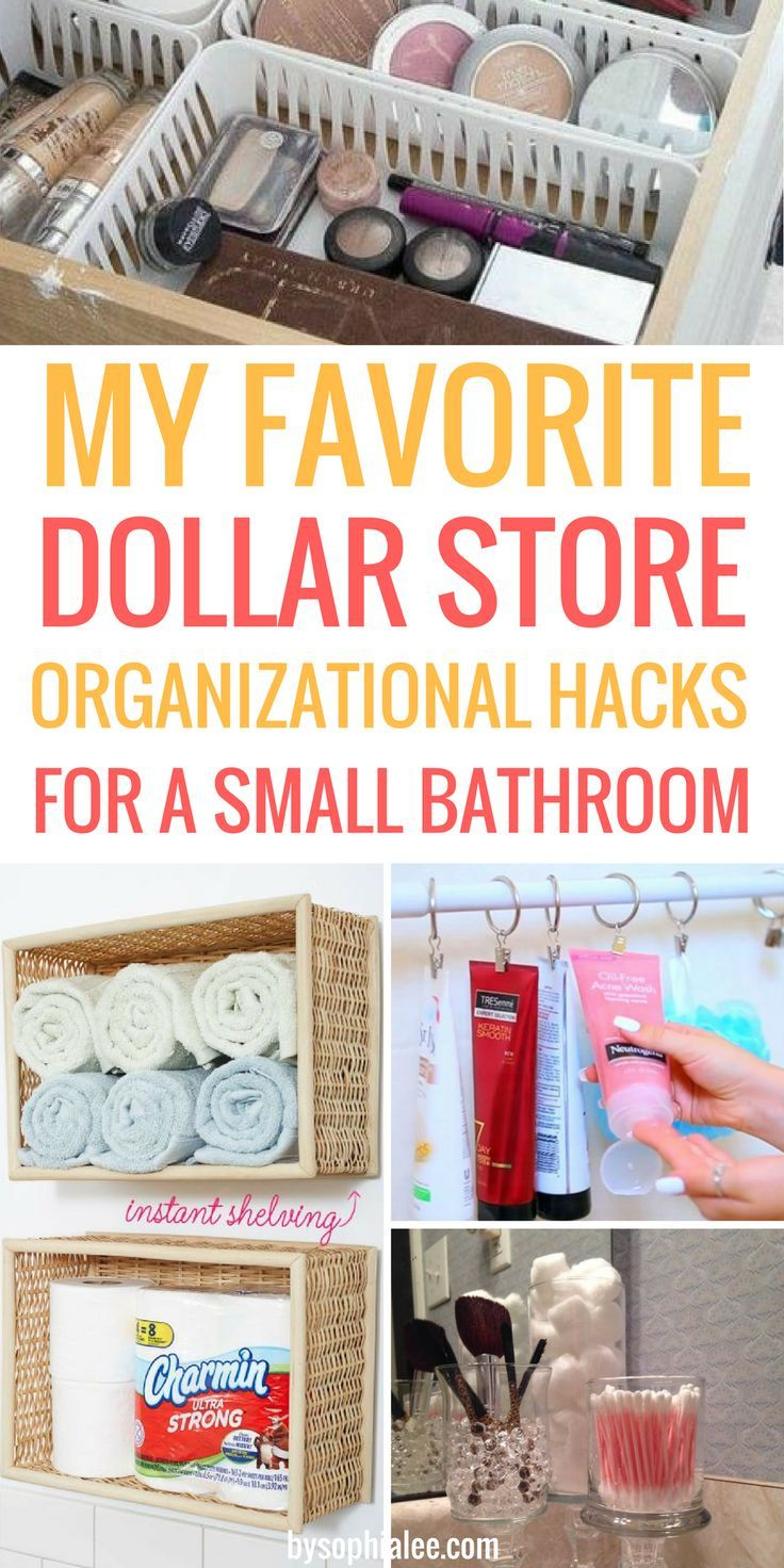 These are the best dollar tips I have seen!! If you have a small bathroom like m...