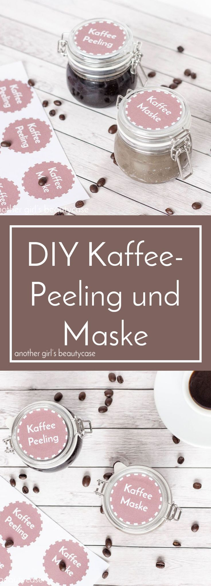DIY coffee scrub and coffee mask with free labels to download