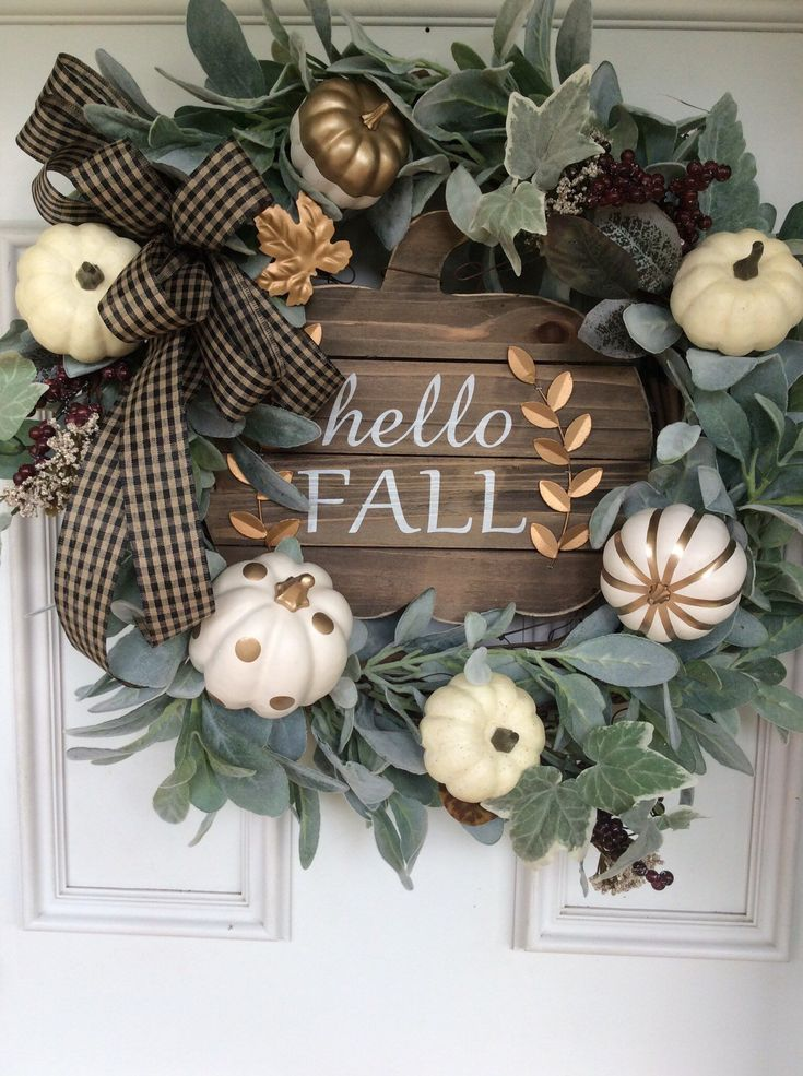 Excited to share this item from my #etsy shop: Hello fall, fall wreath, fall dec...