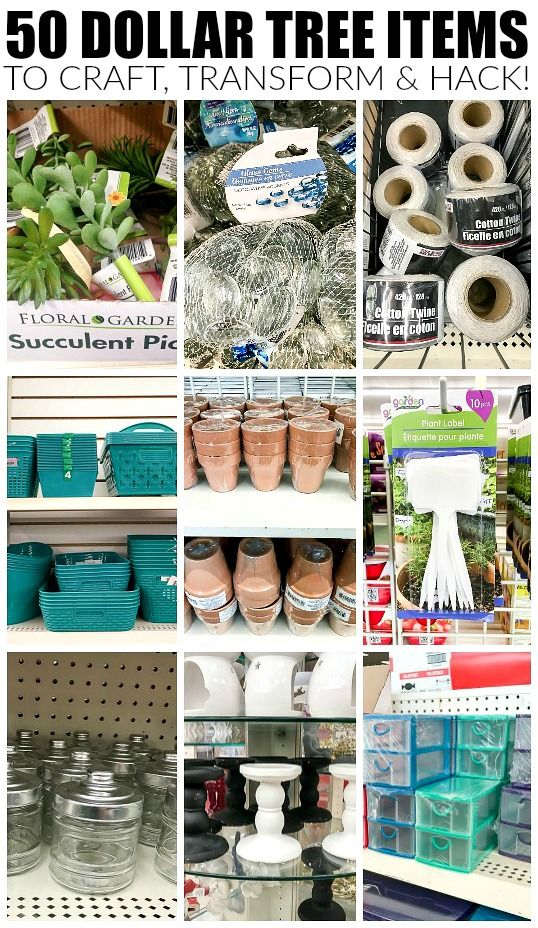The ultimate list of the 50 best Dollar Tree products to hack, transform and mak...