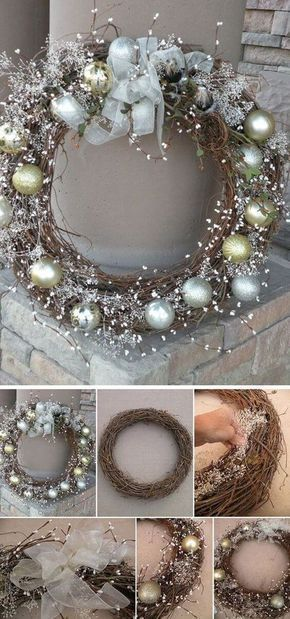 Tinker Christmas wreath - 20 ideas - Christmas 2017 - tinker for Christmas ...