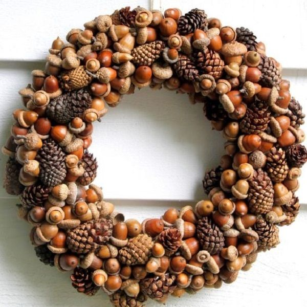 Make cool autumn decorations from cones, leaves and acorns: 24 inspirations, the euc ...