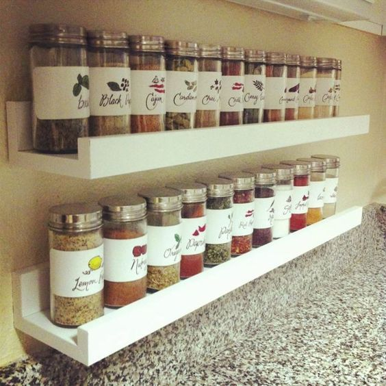 Bring order in the kitchen with the spices - Mini shelf Ikea