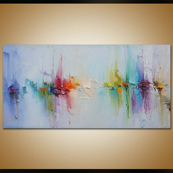 Contemporary Art, Abstract Painting, Original Art, Canvas Painting Seascape Pain...