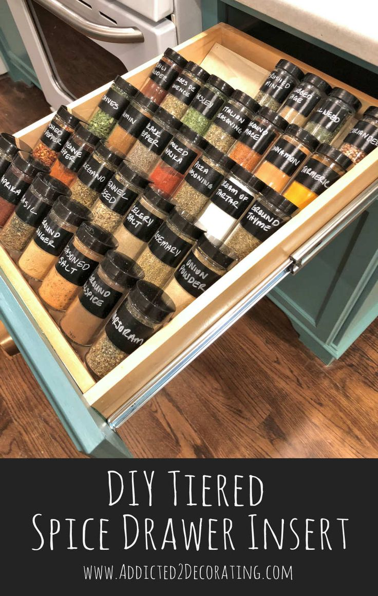 DIY tiered spice drawer insert - Addicted 2 Decorating