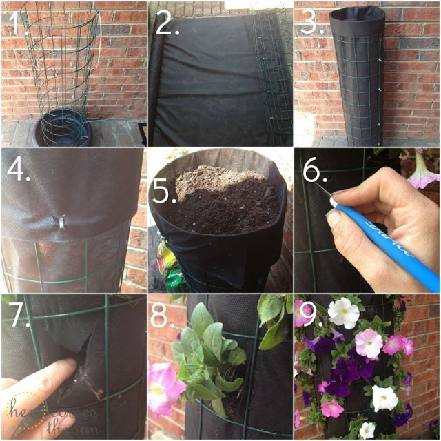diy flower tower, crafts, flowers, gardening, In less than 10 steps you can have...