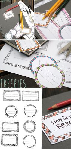 Freebies - Labels for printing exercise books *** Free Printables for Back ...
