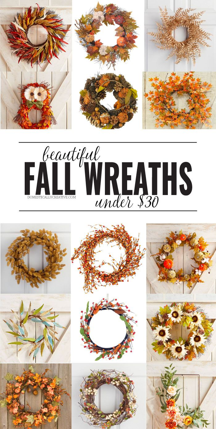 Adorning your door for Fall doesn't have to cost an arm and a leg. Check out the...