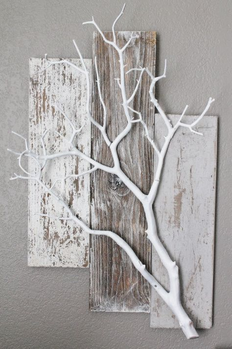 Three Piece Weathered BarnWood with White by BarnwoodBlooms - #BarnWood #Ba ...