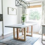 How To Make a DIY Concrete and Wood Dining Table   Jen Woodhouse #concrete #wood...