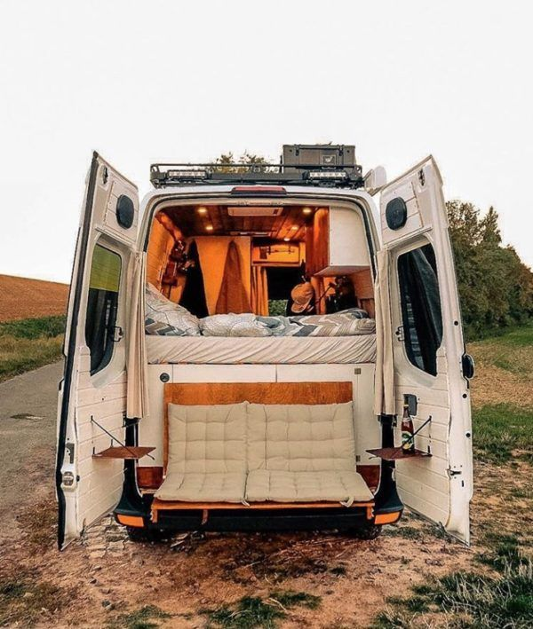 Legend The Van Life of a Couple with a Tailgate Loveseat at the VW Crafte ...
