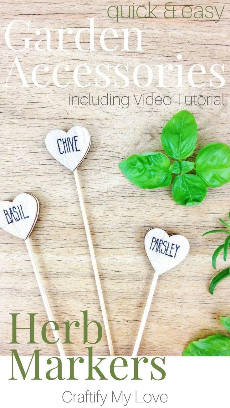 These DIY plant markers are a super easy crafts project for your herb garden! I'...