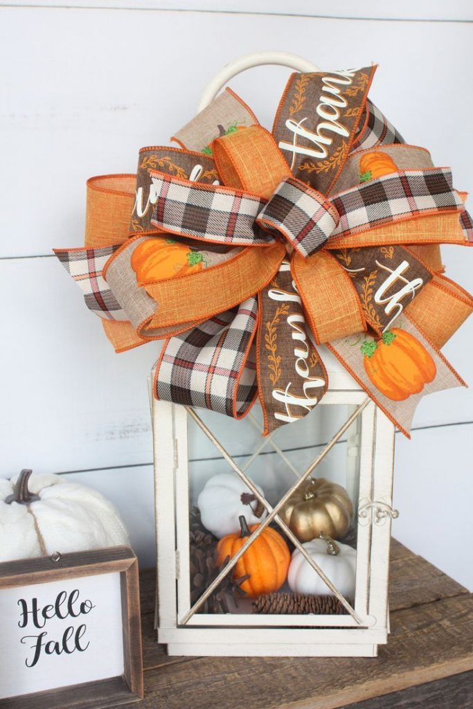 Excited to share the latest addition to my #etsy shop: Fall Home Decor Plaid Bow...