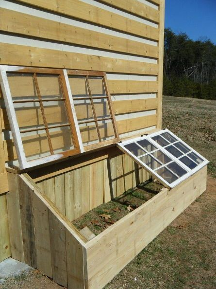 Small greenhouse from old antique windows! For more great home improvement ...