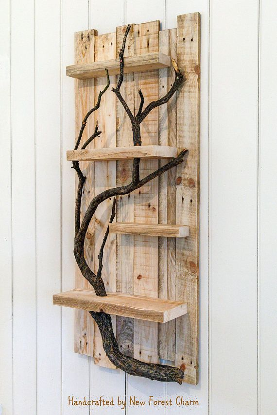 Handmade art wall shelf Charming and beautifully handcrafted rustic ...