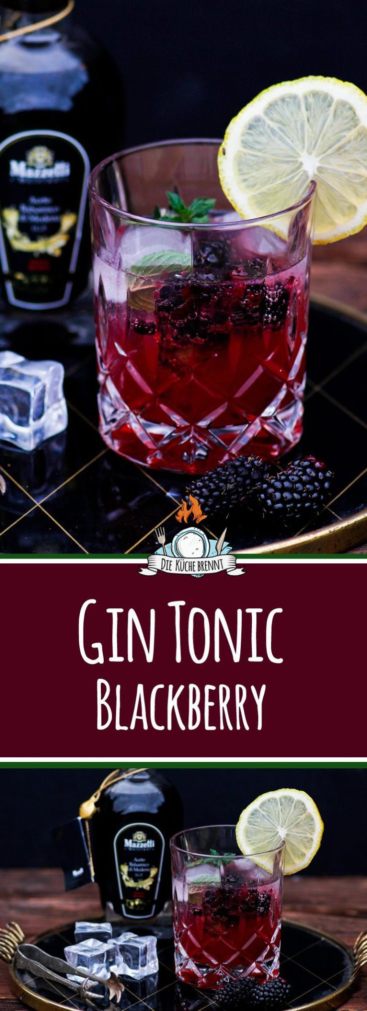 In Drink 2017 - Gin Tonic Blackberry Lemon with Mazzetti l'originale. www.fi ...