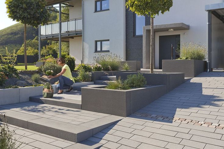 Block steps immediately available from stock of Rinn Concrete blocks and natural stones - Rin ...