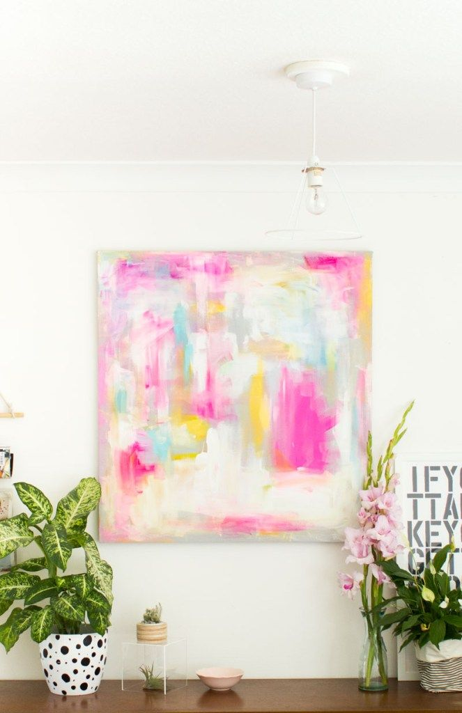 Abstract Painting DIY: 50 crafts to make and sell ideas #crafts #diy
