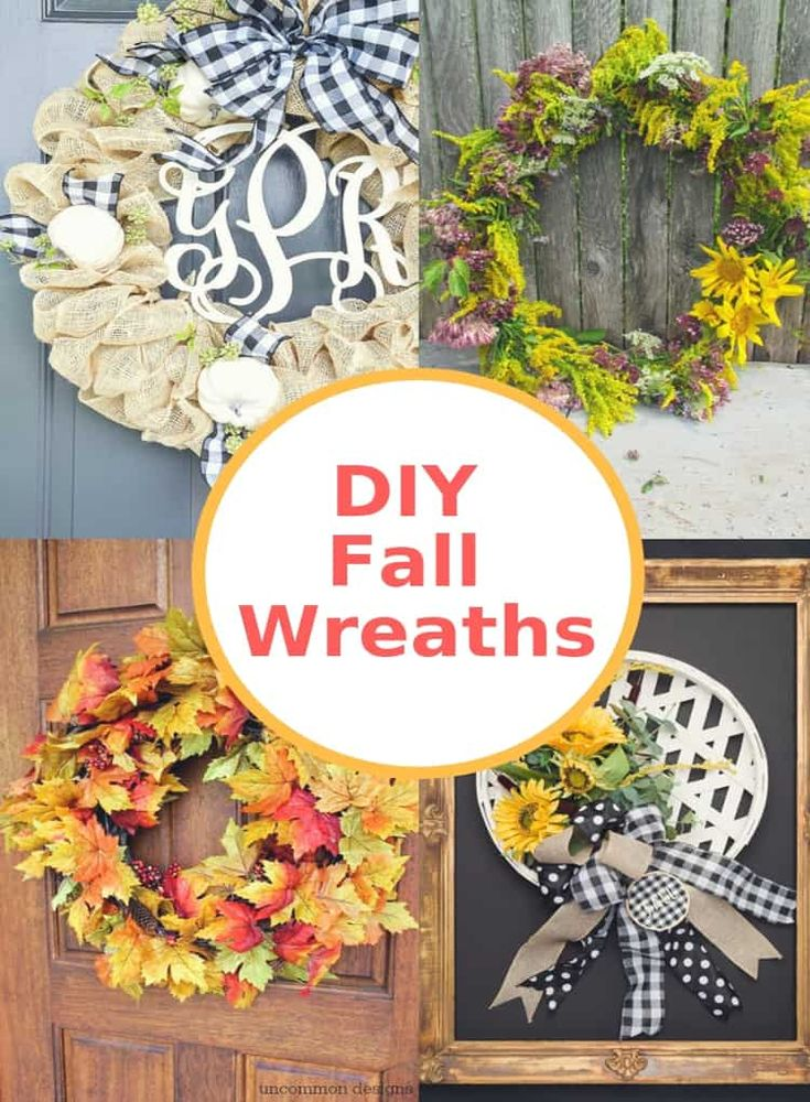 Beautiful DIY Fall Wreaths that are the perfect autumn craft to tackle to make s...