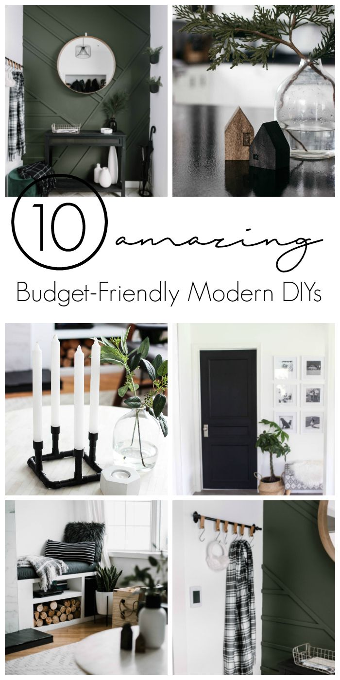 Amazing budget-friendly DIY projects for the modern home. These easy modern home...
