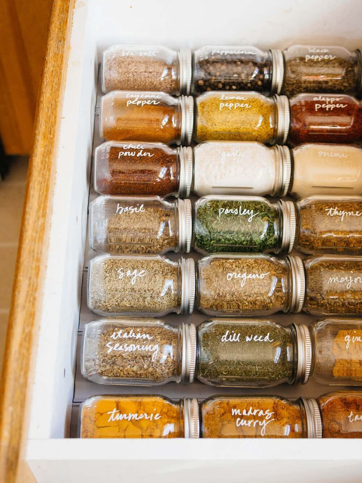 Simple Spice Drawer Organization #Drawer #easy # organization #spice