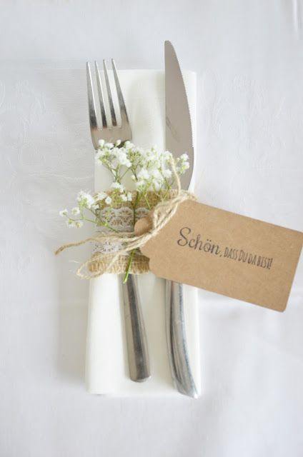 Frau Piepenkötter: Fast DIY: Nice idea for napkins and cutlery on ...