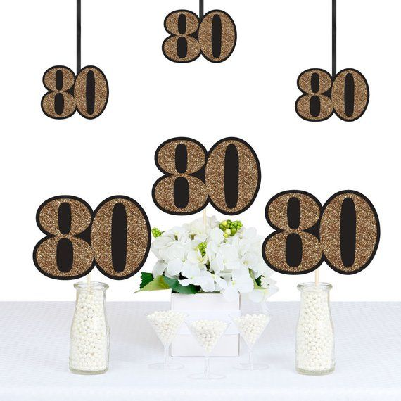 Make your 80th Birthday party perfectly personalized with 80th birthday decorati...