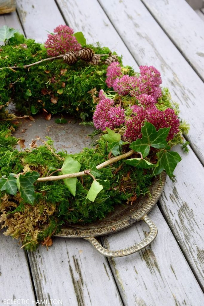 DIY moss wreath just made by yourself! wreath wreaths autumn erika make yourself ef ...