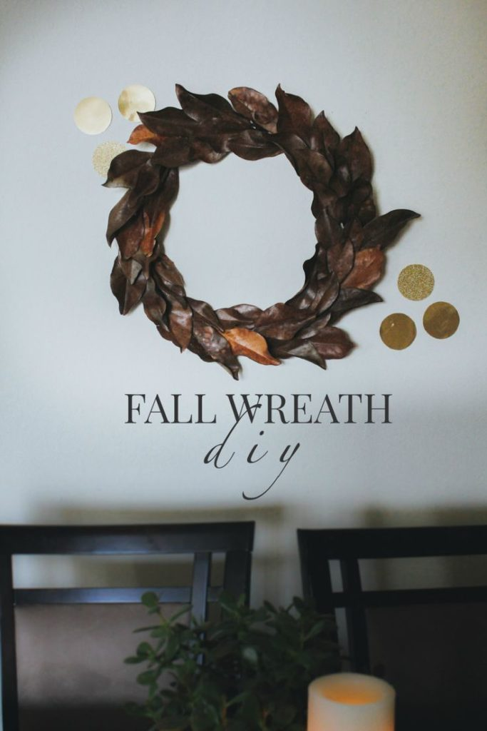 diy fall decorations. magnolia decorations. fall wreath diy.  fall decor ideas. ...